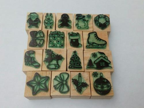 sellitos de goma decorativos modelo navidad 2