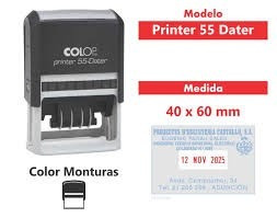 sello autoentintable colop printer 55 dater