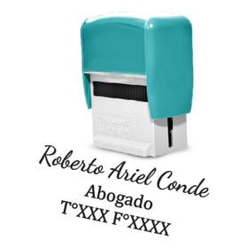 Sello Automatico Goma  + 4 Lineas Texto Loc. Microcentro !!