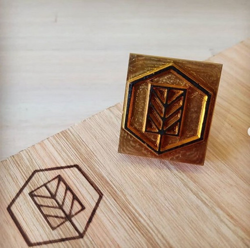 sello-clise - para: cuero, jabon, madera, cartón, lacre
