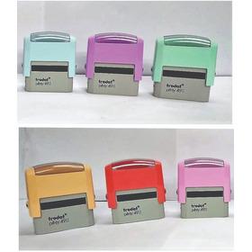 Sello De Goma Automaticos Trodat  Retro Colores Pastel