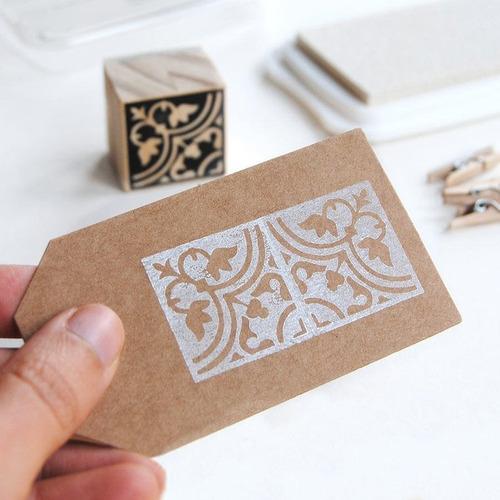 sello de goma personalizado 10x17 cm con tinta y cojín