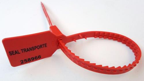 sello de seguridad trank de plastico, bolsa: 100 largo 25cm