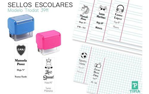 sello escolar infantil personalizado vertical almagro