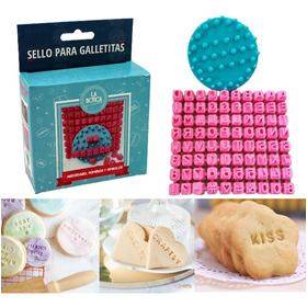 Sello Galletas Letras, Números Y Símbolos Repostería Cookies