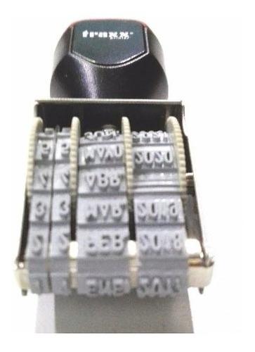 sello manual traxx printer fechador d01-30 3mm x unidad