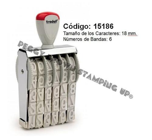 sello numerador manual trodat 15186 (18mm 6 bandas)