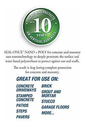 sello once nanopoly sellador de hormigón y mampostería y imp