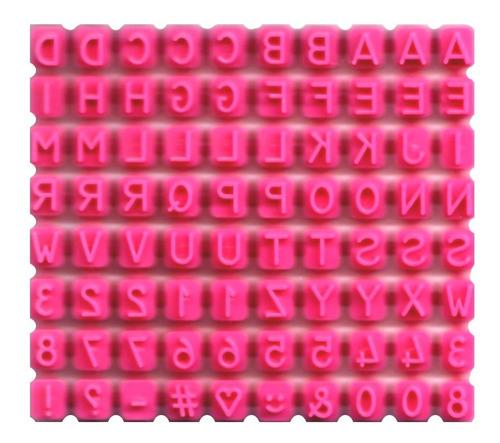 sello para cookies galletillas fondant letras la botica - cc