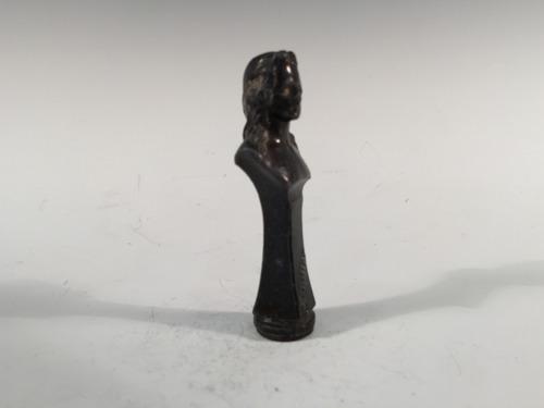 sello para lacre bronce busto de hombre firmado schiller