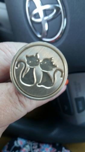 sello para lacre (gatitos)