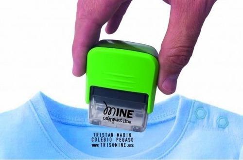 sello para ropa personalizado, pañales, libros, zapatos de