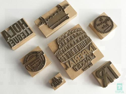 sello personalizado de madera con tu logo diseño almagro