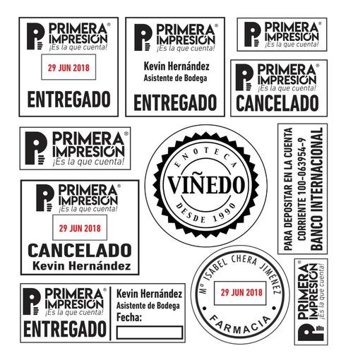 sellos automaticos de goma y caucho, redondos y fechadores