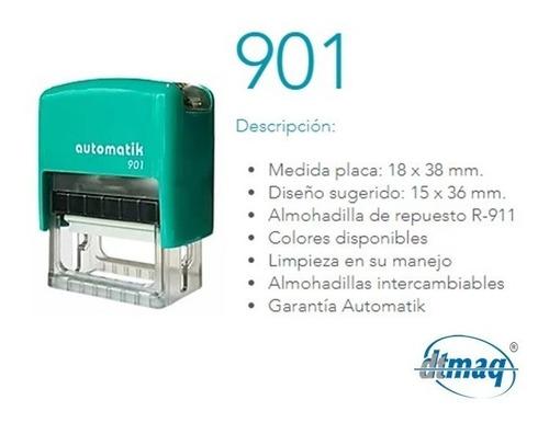 sellos automáticos dtmaq 901 18 x 38 mm por 15 unidades