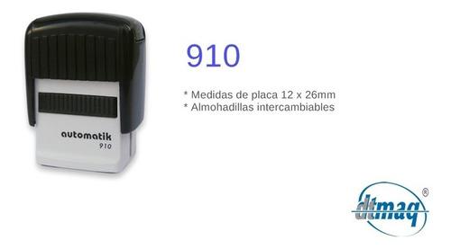 sellos automáticos dtmaq 910 12 x 26 mm por 4 unidades