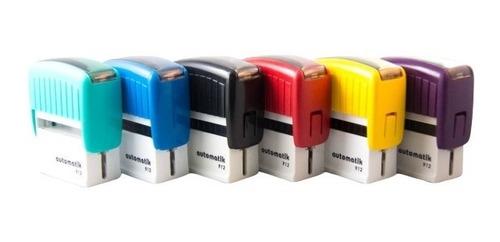sellos automáticos dtmaq 912 19 x 46 mm por 4 unidades