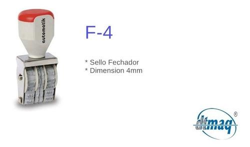 sellos automáticos fechador f-4  4mm por 3 unidades