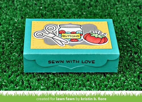 sellos clear lawn fawn scrapbook manualidades costura sewn