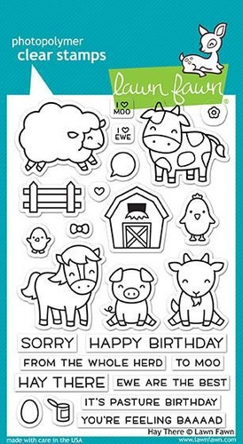 sellos clear lawn fawn scrapbook manualidades granja vacas