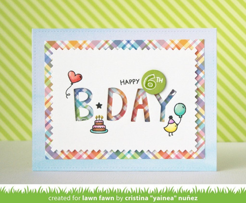 sellos clear lawn fawn scrapbook manualidades plan birthdays