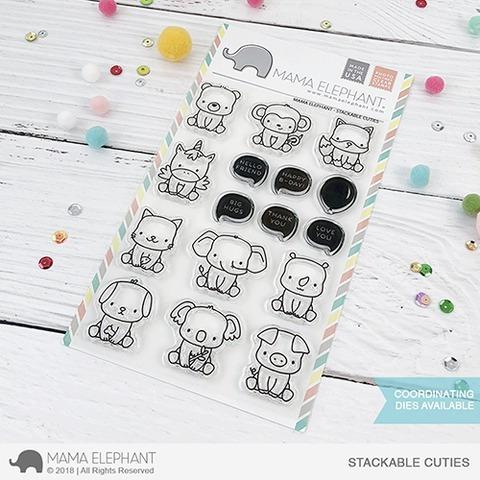 sellos clear mama elephant scrapbook manualidades cuties stk