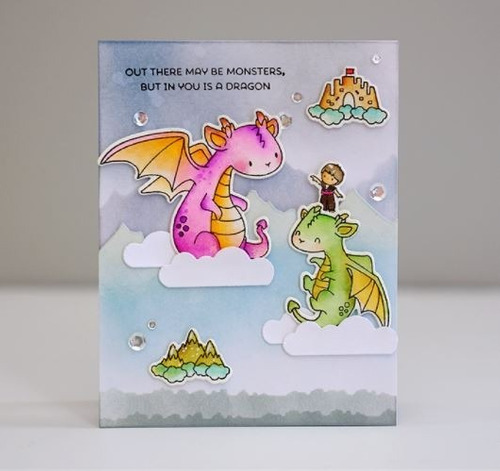 sellos clear mama elephant scrapbook manualidades dragones
