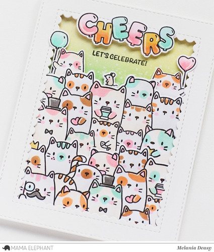 sellos clear mama elephant scrapbook manualidades gatos cats