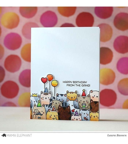 sellos clear mama elephant scrapbook manualidades gatos cats