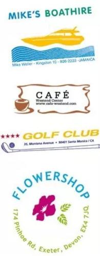 sellos de caucho a color y b/n personalice su logo.