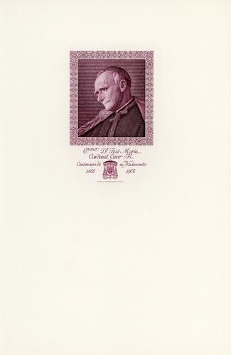sellos de chile. 100 años naci. cardenal josé maría caro.