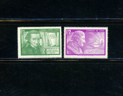 sellos de chile. abate juan ignacio molina. año 1968.