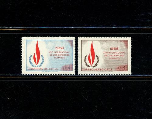 sellos de chile. año internacion. de los derechos humanos.