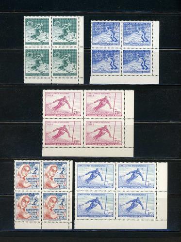 sellos de chile. campeonato mundial de ski - chile 1966.