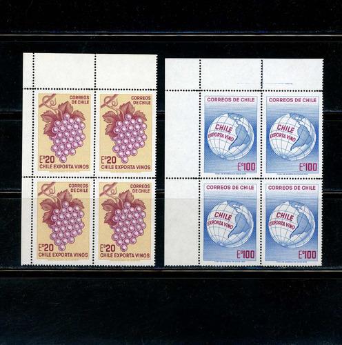 sellos de chile. chile exporta vinos. año 1973.