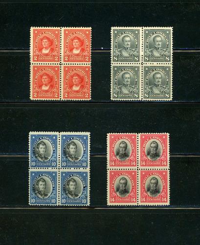 sellos de chile. presidentes y person. célebres serie compl.