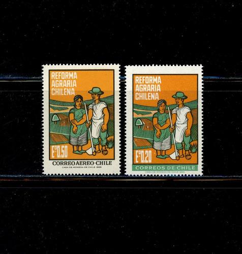 sellos de chile. reforma agraria chilena. año 1968.