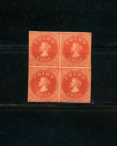 sellos de chile. reimpresiones del dr. hugo hahn. año 1910.