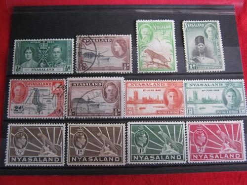 sellos de colonia británica de nyasaland