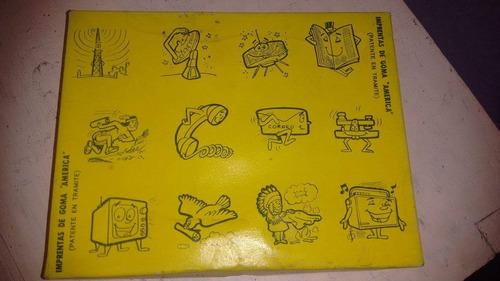 sellos de madera goma america comunicaciones