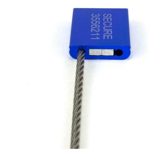 sellos de seguridad precintos cable 36cmx5.0mm 100 pzs caja