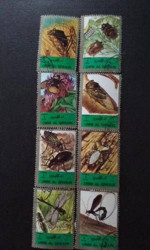 sellos de umm al qiwain de la categoría insectos 1972