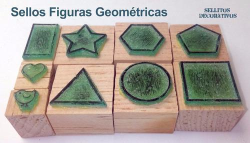 sellos didácticos de figuras geométricas - sellos de goma