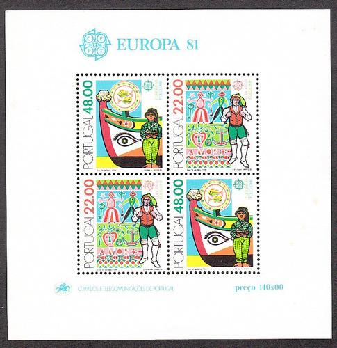 sellos estampillas block subenir europa portugal mint