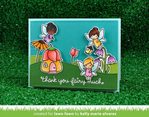 sellos lawn fawn scrapbook manualidades hadas fairy friends