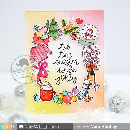 sellos mama elephant scrapbook manualidades holiday bitties