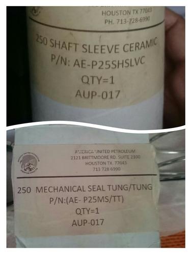 sellos mecanico y ceramico para centifuga serie 250