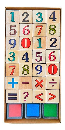 sellos numeros + almohadilla 18412 colours educando