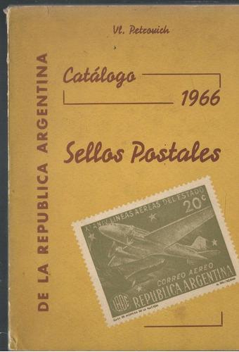 sellos postales .catalogo 1966 . de la republica argentina