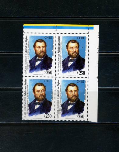 sellos postales chile. 100 años muerte heinrich von stephan.